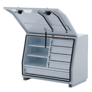 White 5 Drawer Steel Toolbox - 960mm x 500mm x 700mm